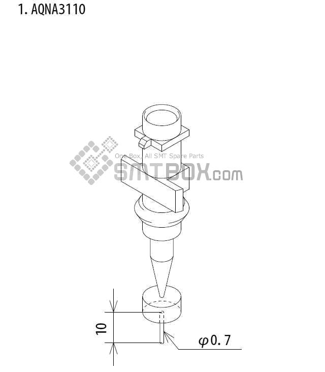 FUJI IP III 16 IP III 16JE IP IIIE 10 nozzle Part No.AQNA3110 side a