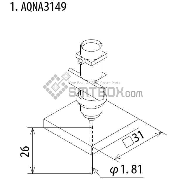 FUJI IP III 16 IP III 16JE IP IIIE 10 nozzle Part No.AQNA3149 side a