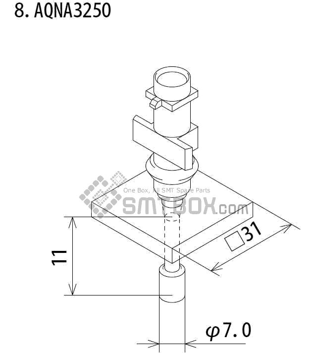 FUJI IP III 16 IP III 16JE IP IIIE 10 nozzle Part No.AQNA3250 side a