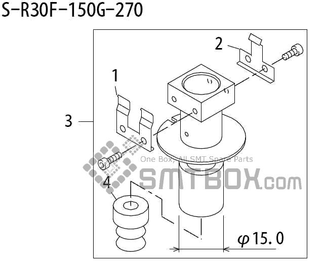 FUJI QP 242E 10 QP 242E(10JE) Nozzle Part No.ABHPN6805 Rating S R30F 150G 270 side a