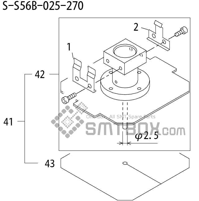 FUJI QP 242E 10 QP 242E(10JE) Nozzle Part No.ABHPN8242 Rating S S56B 025 270 side a