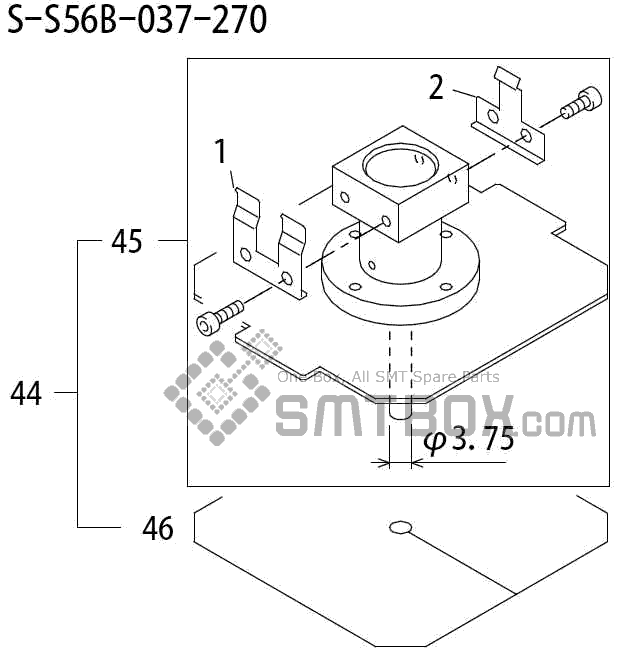 FUJI QP 242E 10 QP 242E(10JE) Nozzle Part No.ABHPN8252 Rating S S56B 037 270 side a