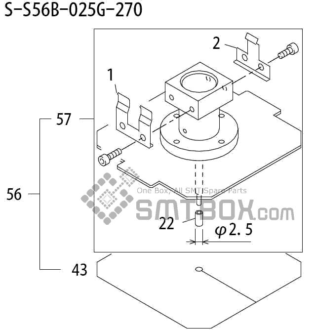FUJI QP 242E 10 QP 242E(10JE) Nozzle Part No.ABHPN8292 Rating S S56B 025G 270 side a