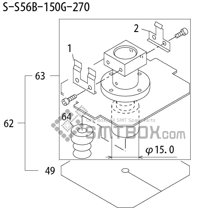 FUJI QP 242E 10 QP 242E(10JE) Nozzle Part No.ABHPN8322 Rating S S56B 150G 270 side a
