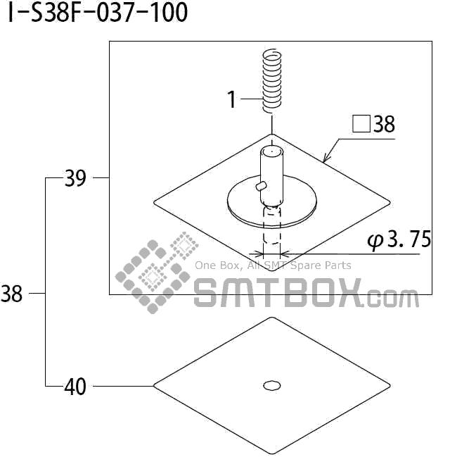 FUJI QP 242E 10 QP 242E(10JE) Nozzle Part No.ABHPN8635 Rating I S38F 037 100 side a