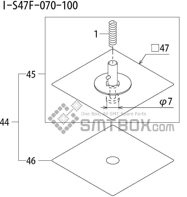 FUJI QP 242E 10 QP 242E(10JE) Nozzle Part No.ABHPN8655 Rating I S47F 070 100 side a