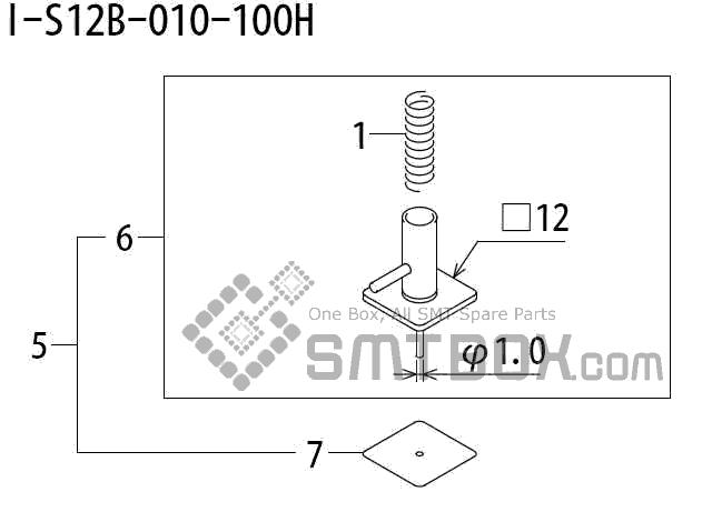FUJI QP 242E 10 QP 242E(10JE) Nozzle Part No.ABHPN8730 Rating I S12B 010 100H side a