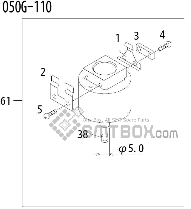 FUJI QP 341E MM 04 Nozzle Part No.ADBPN8352 Rating 050G 110 side a