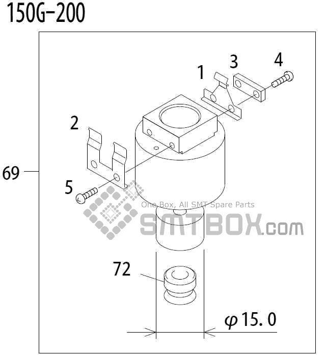 FUJI QP 341E MM 04 Nozzle Part No.ADBPN8482 Rating 150G 200 side a