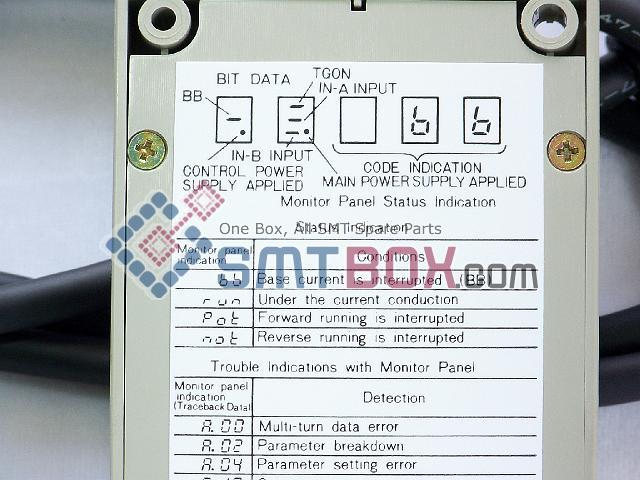 FUJI CP642 CP643 CP6 4000 SERVOPACK YASKAWA Digital Operator Part Number H1319A JUSP OP02A side c