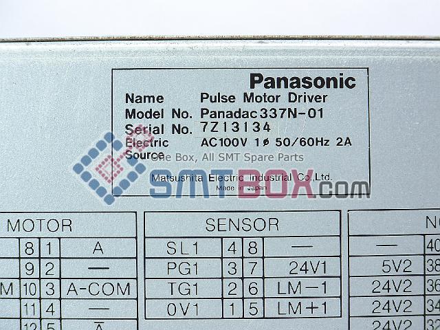 Panasonic Pulse Motor Driver Panadac P337N 01 Part Name N1P337N01 AC100V 50 60Hz 2A side b