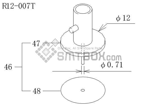 FUJI CP 606 10JE nozzle AWPH9733 R12 007T side a