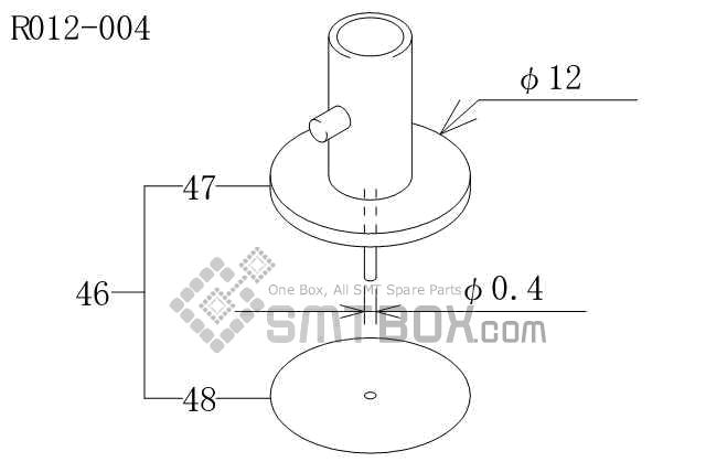 FUJI CP 643ME 03 Nozzle AWPH9702 R012 004 side a