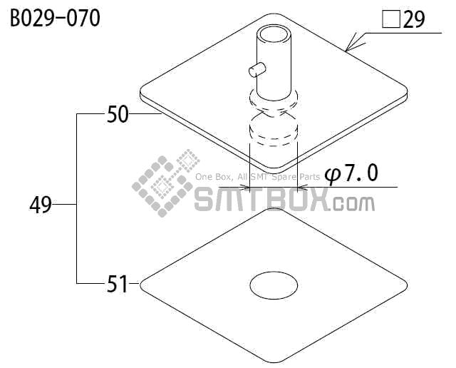 FUJI CP 65E 06 CP 65 08 Nozzle AYPH9520 B029 070 side a