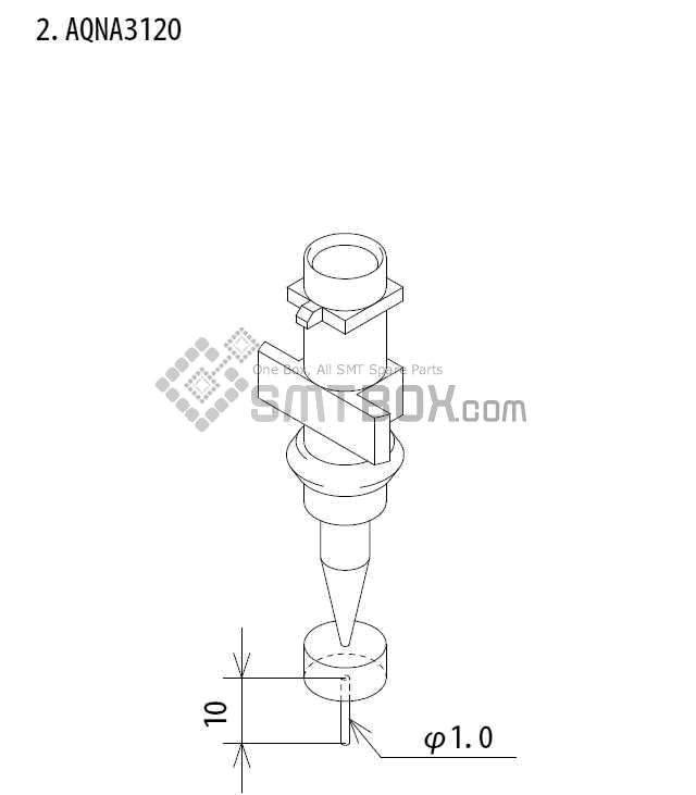 FUJI IP III 16 IP III 16JE IP IIIE 10 nozzle Part No.AQNA3120 side a