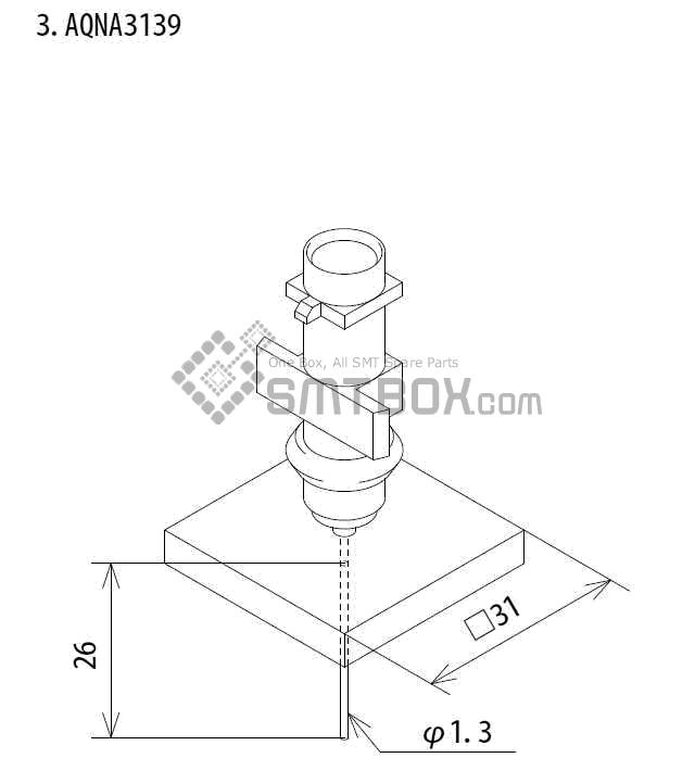 FUJI IP III 16 IP III 16JE IP IIIE 10 nozzle Part No.AQNA3130 side a
