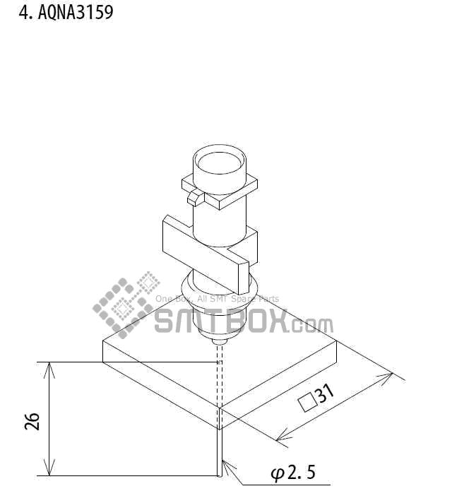 FUJI IP III 16 IP III 16JE IP IIIE 10 nozzle Part No.AQNA3159 side a