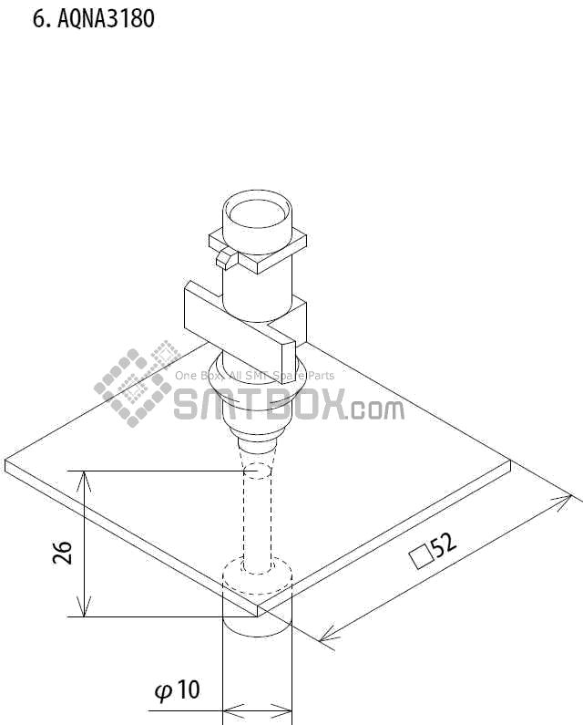 FUJI IP III 16 IP III 16JE IP IIIE 10 nozzle Part No.AQNA3180 side a