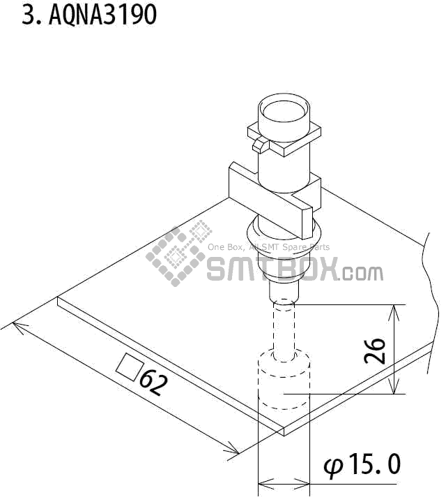 FUJI IP III 16 IP III 16JE IP IIIE 10 nozzle Part No.AQNA3190 side a