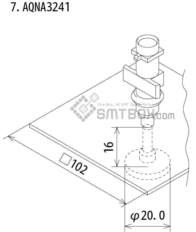 FUJI IP III 16 IP III 16JE IP IIIE 10 nozzle Part No.AQNA3241 side a