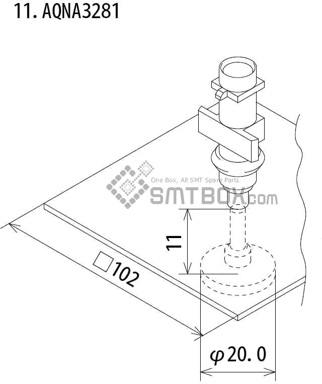 FUJI IP III 16 IP III 16JE IP IIIE 10 nozzle Part No.AQNA3281 side a