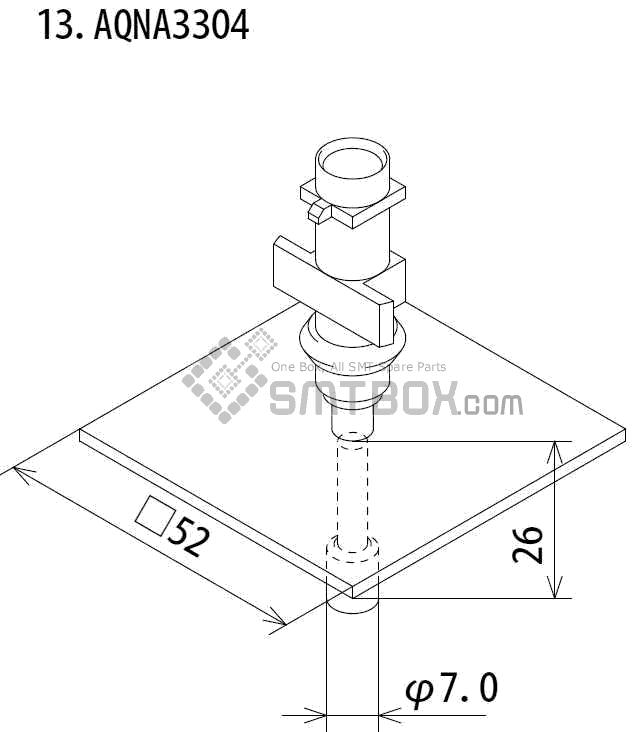 FUJI IP III 16 IP III 16JE IP IIIE 10 nozzle Part No.AQNA3304 side a