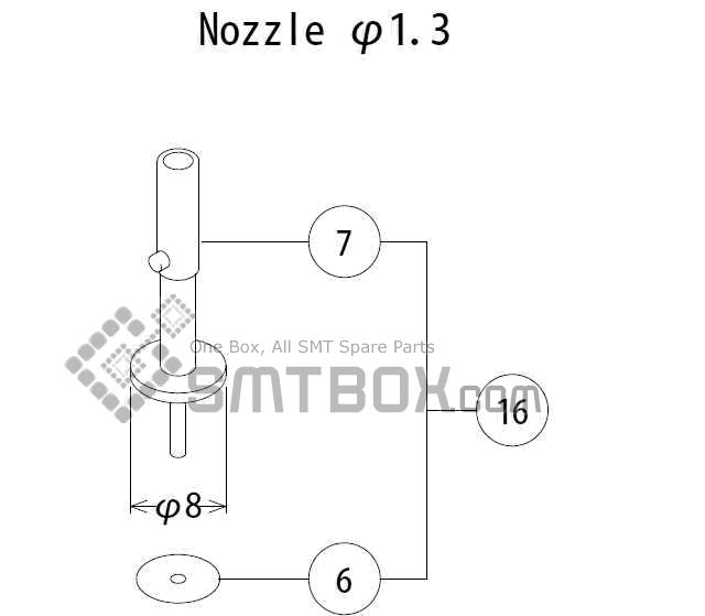 FUJI QP 132E 07 nozzlePart No.ACGPN8518Rating 1.3