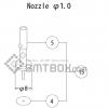 FUJI QP 132E 07 nozzle Part No.ACGPN8528 Rating 1.0 side a