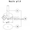 FUJI QP 132E 07 nozzle Part No.ACGPN8617 Rating 1.8 side a