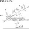 FUJI QP 242E 10 QP 242E(10JE) Nozzle Part No.ABHPN6217 Rating S R30F 010 270 side a
