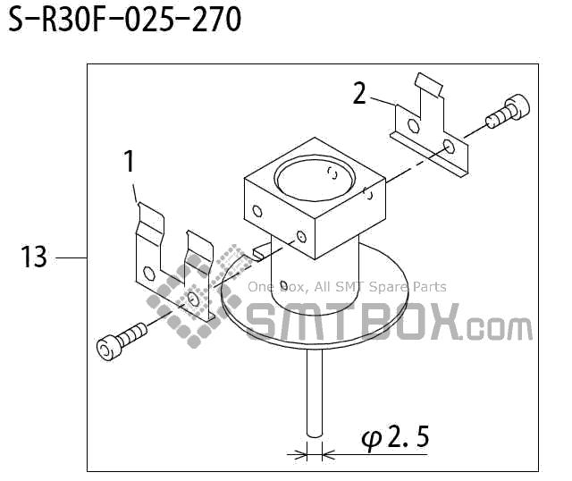 FUJI QP 242E 10 QP 242E(10JE) Nozzle Part No.ABHPN6248 Rating S R30F 025 270 side a