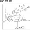 FUJI QP 242E 10 QP 242E(10JE) Nozzle Part No.ABHPN6258 Rating S R30F 037 270 side a
