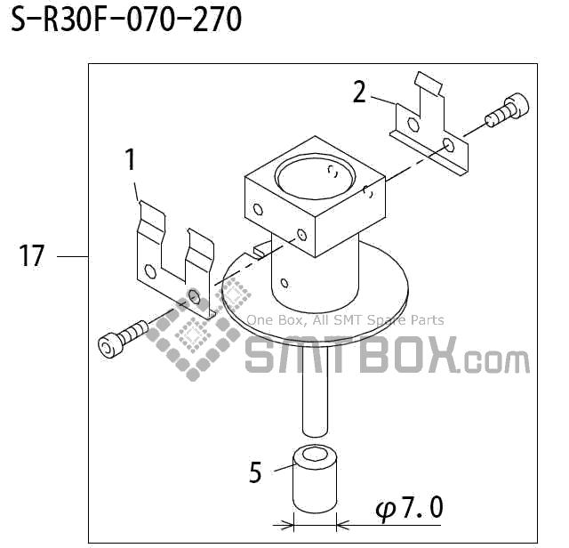 FUJI QP 242E 10 QP 242E(10JE) Nozzle Part No.ABHPN6278 Rating S R30F 070 270 side a