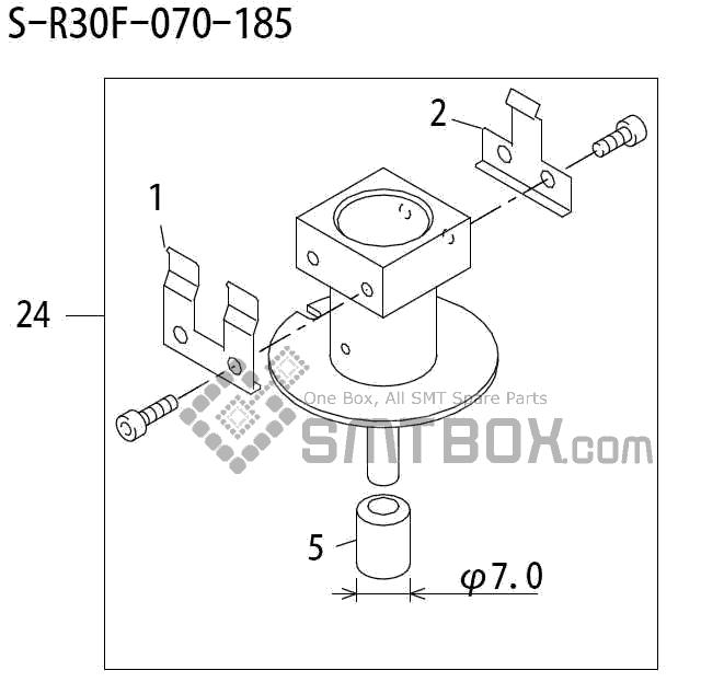 FUJI QP 242E 10 QP 242E(10JE) Nozzle Part No.ABHPN6367 Rating S R30F 070 185 side a