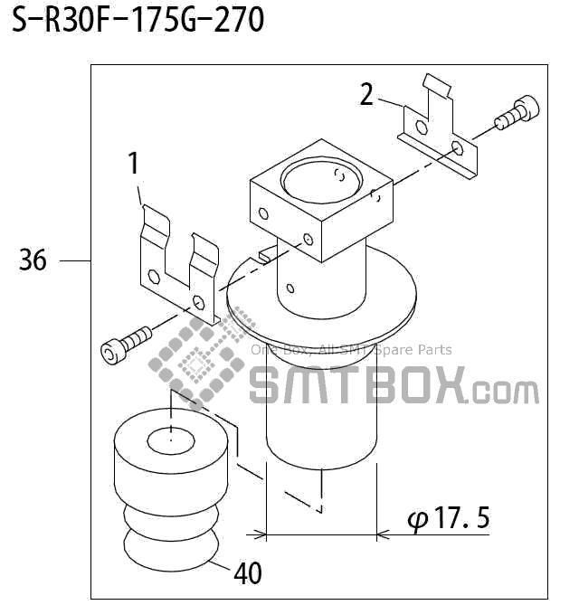 FUJI QP 242E 10 QP 242E(10JE) Nozzle Part No.ABHPN6705 Rating S R30F 175G 270 side a