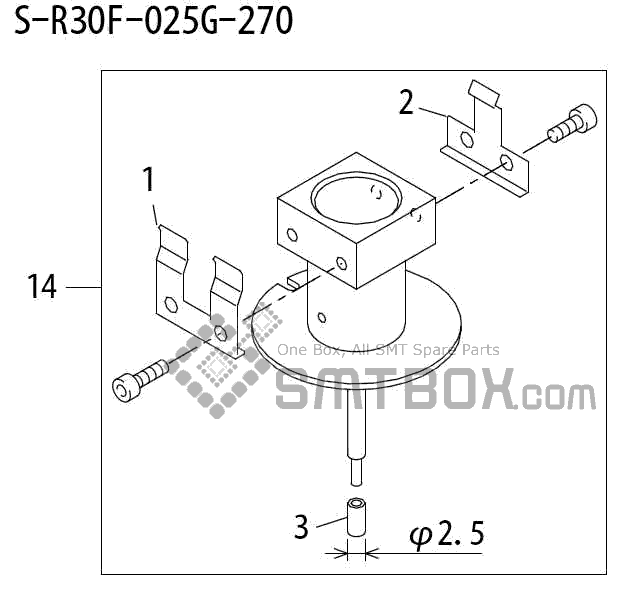 FUJI QP 242E 10 QP 242E(10JE) Nozzle Part No.ABHPN6718 Rating S R30F 025G 270 side a