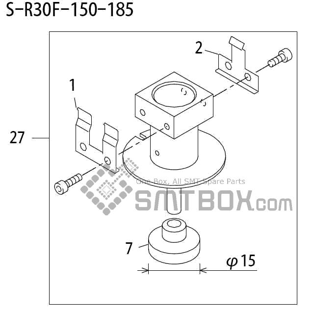FUJI QP 242E 10 QP 242E(10JE) Nozzle Part No.ABHPN6787 Rating S R30F 150 185 side a