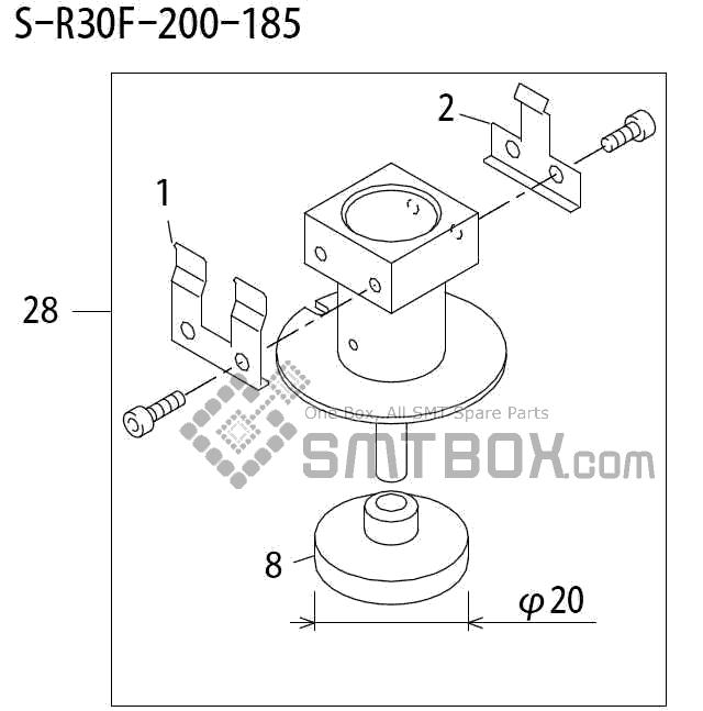 FUJI QP 242E 10 QP 242E(10JE) Nozzle Part No.ABHPN6797 Rating S R30F 200 185 side a
