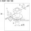 FUJI QP 242E 10 QP 242E(10JE) Nozzle Part No.ABHPN6826 Rating S R30F 100 100 side a