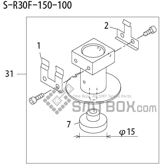 FUJI QP 242E 10 QP 242E(10JE) Nozzle Part No.ABHPN6836 Rating S R30F 150 100 side a