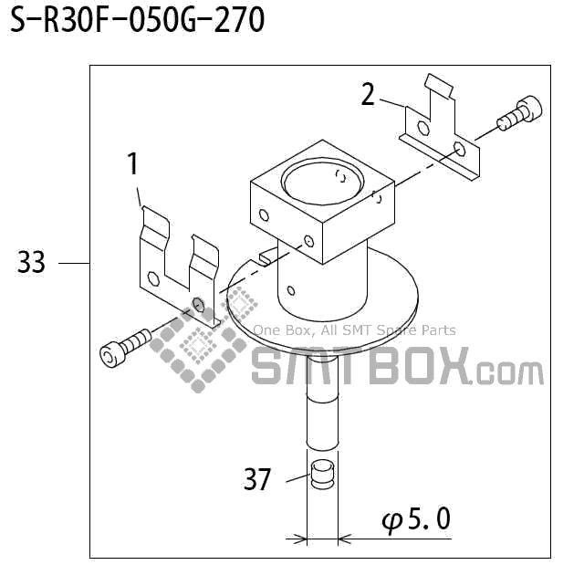 FUJI QP 242E 10 QP 242E(10JE) Nozzle Part No.ABHPN6854 Rating S R30F 050G 270 side a