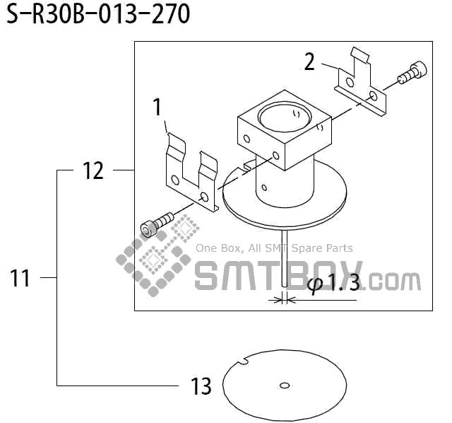 FUJI QP 242E 10 QP 242E(10JE) Nozzle Part No.ABHPN8145 Rating S R30B 013 270 side a