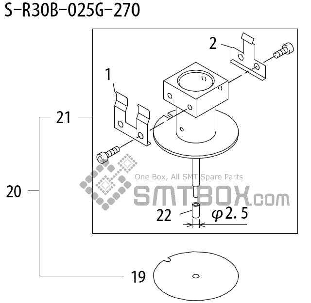 FUJI QP 242E 10 QP 242E(10JE) Nozzle Part No.ABHPN8174 Rating S R30B 025G 270 side a