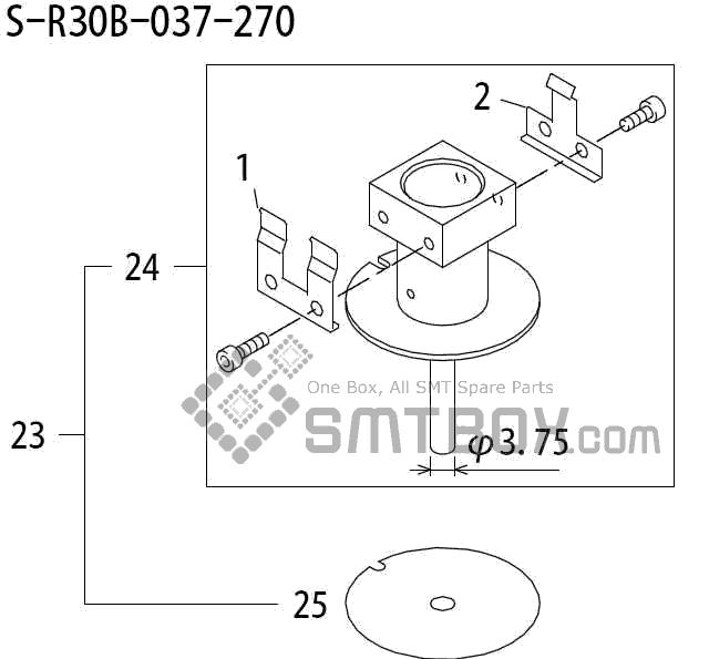 FUJI QP 242E 10 QP 242E(10JE) Nozzle Part No.ABHPN8184 Rating S R30B 037 270 side a