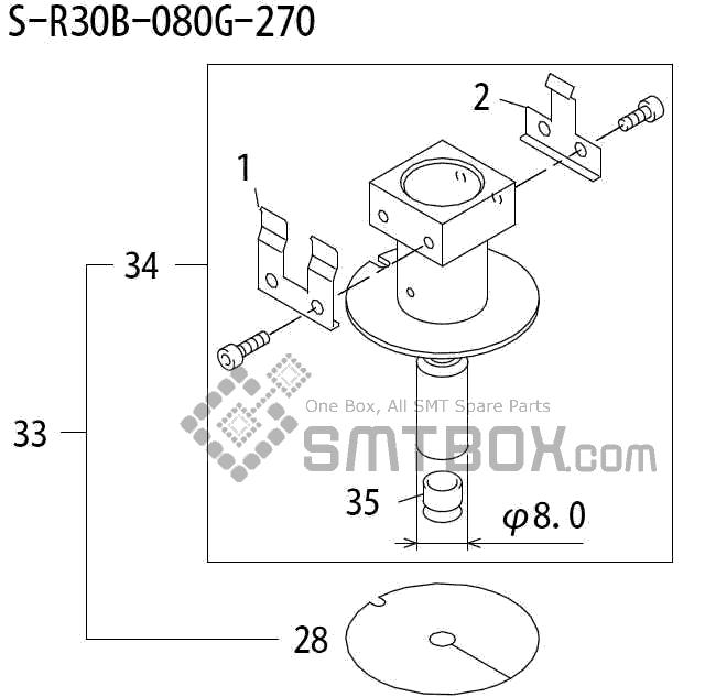 FUJI QP 242E 10 QP 242E(10JE) Nozzle Part No.ABHPN8215 Rating S R30B 080G 270 side a