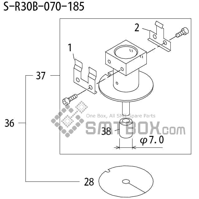 FUJI QP 242E 10 QP 242E(10JE) Nozzle Part No.ABHPN8224 Rating S R30B 070 185 side a