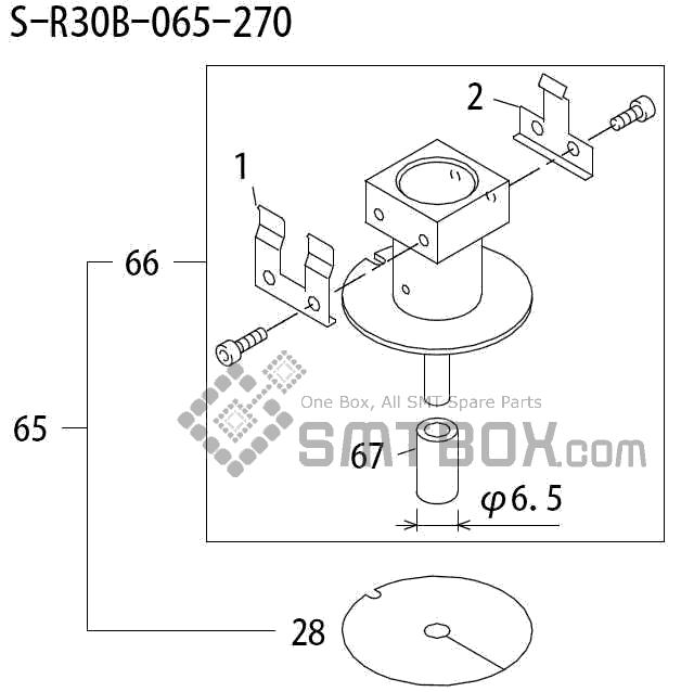 FUJI QP 242E 10 QP 242E(10JE) Nozzle Part No.ABHPN8331 Rating S R30B 065 270 side a