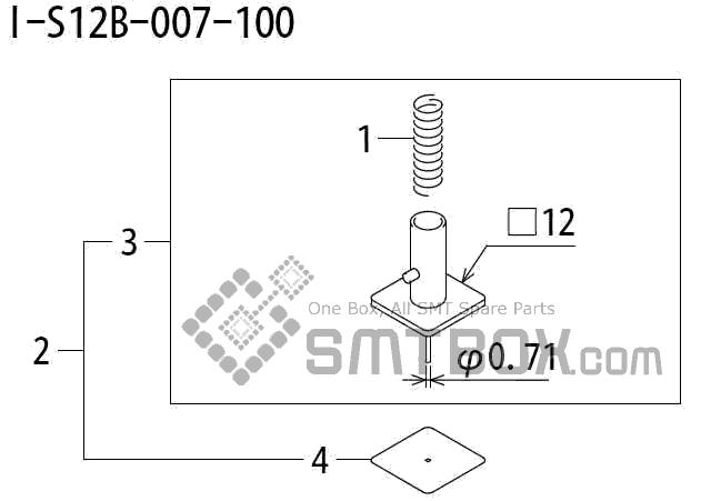 FUJI QP 242E 10 QP 242E(10JE) Nozzle Part No.ABHPN8515 Rating I S12B 007 100 side a
