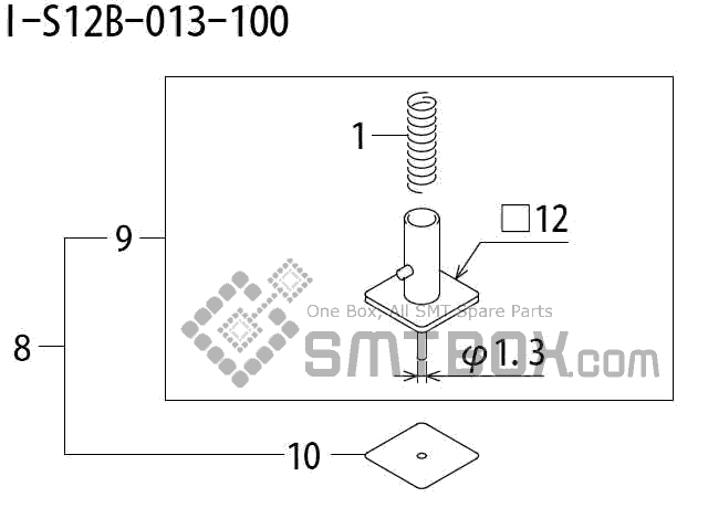 FUJI QP 242E 10 QP 242E(10JE) Nozzle Part No.ABHPN8535 Rating I S12B 013 100 side a