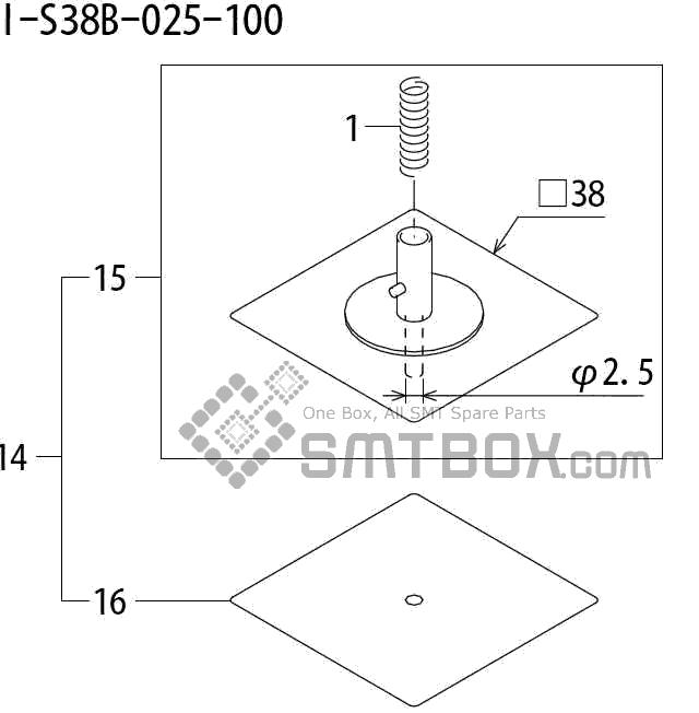 FUJI QP 242E 10 QP 242E(10JE) Nozzle Part No.ABHPN8555 Rating I S38B 025 100 side a